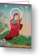 Thanka Greeting Cards - Namkai Nyingpo Greeting Card by Sergey Noskov