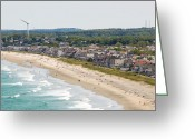 Hull Ma Greeting Cards - Nanasket South Greeting Card by Lucy Wightman
