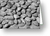 Cobblestones Greeting Cards - Nantucket Cobblestones Greeting Card by Charles Harden