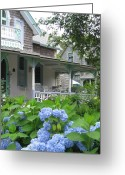 New England Digital Art Greeting Cards - Nantucket Cottage Greeting Card by Ursula Wright