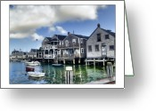 Cape Cod Greeting Cards - Nantucket Harbor in Summer Greeting Card by Tammy Wetzel