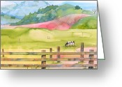 California Painting Greeting Cards - Napa Valley Greeting Card by Robert Hooper