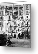 Tall Buildings Greeting Cards - Naples Italy - c 1901 Greeting Card by International  Images