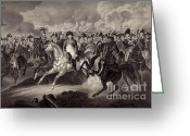 Intaglio Etching Greeting Cards - Napoleon And His Generals Greeting Card by Photo Researchers