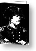 Napoleonic Wars Greeting Cards - Napoleon Bonaparte Greeting Card by War Is Hell Store