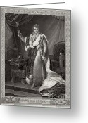 Intaglio Etching Greeting Cards - Napoleon I, Emperor Of France Greeting Card by Photo Researchers