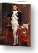 Napoleonic Wars Greeting Cards - Napoleon Posing In His Study  Greeting Card by War Is Hell Store
