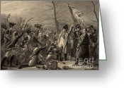 Napoleonic Wars Greeting Cards - Napoleon Returns From The Island Greeting Card by Photo Researchers