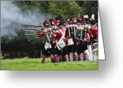 Guards Greeting Cards - Napoleonic Battle Greeting Card by Andy Smy