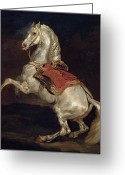 Napoleon Painting Greeting Cards - Napoleons Stallion Tamerlan Greeting Card by Theodore Gericault