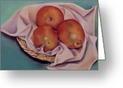 Bright Pastels Greeting Cards - Naranjas Greeting Card by Diana Moya