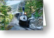 Southern Rocky Mountains Greeting Cards - Narow Gauge Memories Greeting Card by Ken Smith