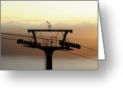 Overhead Greeting Cards - Narvikfjellet Cable Car In Narvik, Norway Greeting Card by Anjci (c) All Rights Reserved