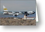 Hyper Greeting Cards - NASA Boeing NB-52B Stratofortress with Hyper X Greeting Card by Brian Lockett
