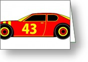 Asbjorn Lonvig Greeting Cards - Nascar Winner Virtual Car Greeting Card by Asbjorn Lonvig