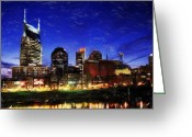 Nashville Greeting Cards - Nashville At Twilight Greeting Card by Dean Wittle