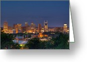 Nashville Greeting Cards - Nashville by Night 2 Greeting Card by Douglas Barnett