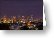 Nashville Greeting Cards - Nashville by Night 3 Greeting Card by Douglas Barnett