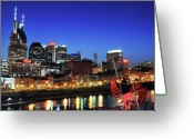 Batman Greeting Cards - Nashville Skyline Greeting Card by Giffin Photography