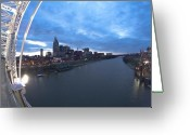 Nashville Greeting Cards - Nashville Skyline Greeting Card by Sven Brogren