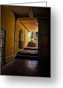 Christopher Holmes Greeting Cards - Nassau Alley Greeting Card by Christopher Holmes