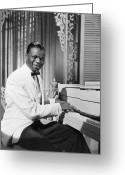 Cole Photo Greeting Cards - Nat King Cole (1919-1965) Greeting Card by Granger