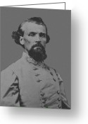Store Digital Art Greeting Cards - Nathan Bedford Forrest Greeting Card by War Is Hell Store