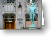 Regret Greeting Cards - Nathan Hale Greeting Card by Anthony Citro