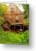 Historical Site Greeting Cards - Nathaniel Thomas Mill Greeting Card by Catherine Reusch  Daley