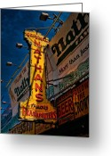 Nathans Greeting Cards - Nathans Famous Original Frankfurters  Greeting Card by Chris Lord