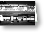 Nathans Greeting Cards - Nathans Noir Greeting Card by John Rizzuto
