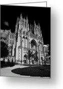 Washington Cathedral Greeting Cards - National Cathedral Greeting Card by Joe Hickson