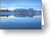 Potomac River Greeting Cards - National Harbor MD Greeting Card by JC Findley