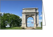 Historic Landmark Greeting Cards - National Memorial Arch at Valley Forge Greeting Card by Olivier Le Queinec