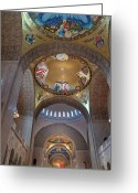 Byzantine Greeting Cards - National Shrine Interior Greeting Card by Barbara McDevitt