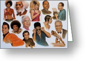 Michael Jackson Greeting Cards - Native American And African American Greeting Card by Curtis James