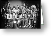Mathew Greeting Cards - Native American Delegation, 1877 Greeting Card by Granger
