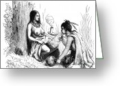 Indigenous American Greeting Cards - Native American Indian Midwifery, 1877 Greeting Card by Science Source