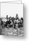 Ute Greeting Cards - Native Americans: Ute Warrior, 1871 Greeting Card by Granger