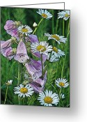 Diane Berry Digital Art Greeting Cards - Native Flowers Greeting Card by Diane E Berry