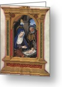 Saint Joseph Greeting Cards - NATIVITY, FRENCH, c1510 Greeting Card by Granger