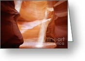 Natural Greeting Cards - Natural beauty at its finest - Antelope Canyon Arizona Greeting Card by Christine Till - CT-Graphics