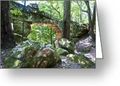 Terry Digital Art Greeting Cards - Natural Bridge Greeting Card by Terry Anderson