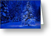 Forest Pastels Greeting Cards - Natural Christmas Tree Greeting Card by Susan Jenkins