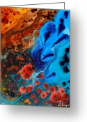 Coral Reef Greeting Cards - Natural Formation Greeting Card by Sharon Cummings
