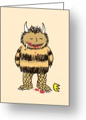 Monster Digital Art Greeting Cards - Natural instinct Greeting Card by Budi Satria Kwan