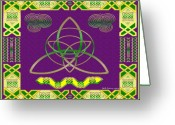Celtic Knots Greeting Cards - Natural Knot Greeting Card by Mike Sexton