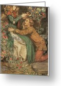 Eleanor Greeting Cards - Natural Magic Greeting Card by Eleanor Fortescue-Brickdale