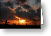Contre Jour Greeting Cards - NATURE and TECHNICS Greeting Card by Ingrid Stiehler