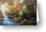 Colorful Photography Painting Greeting Cards - Nature Beauty 3 Greeting Card by Uma Devi